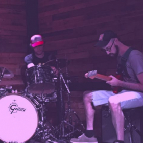Performing with drummer Kevin Shea in Brooklyn, NY