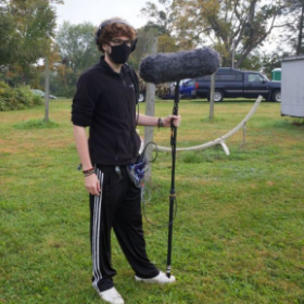 "Boom operator for ""Let's Do Things That Make Us Happy"" in Brookfield,CT"