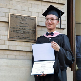 Ming-hang Tam at NEC's 148th Commencement Ceremony (May 2019)