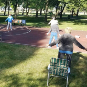 Morning Tai Chi  with social distance in  August 2020