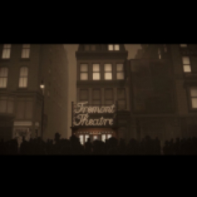 Stylized 3D rendering of early 1900s Tremont Theatre