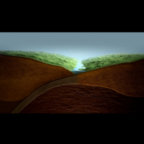 3D cross section rendering demonstrating formation of mountains