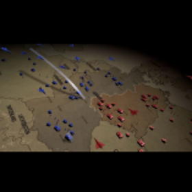Stylized 3d Cold War map animation