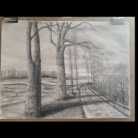 Student work Drawing. Graphite on paper