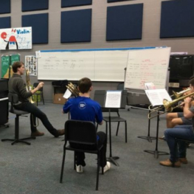 Low-Brass Masterclass at Cyprus Creek High School in Houston, TX