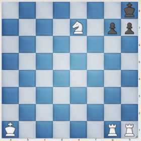 White has a rather creative checkmate in two. Can you find it?