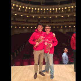 Photo after dress rehearsal in Carnegie Hall with Alan Tolbert for the 2018 New York String Orchestra Seminar.