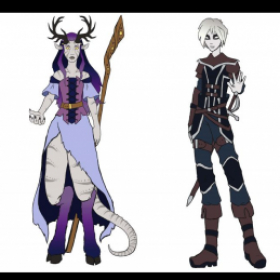Original Tiefling and Changeling Characters for D&D, Adobe Photoshop, 2020