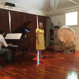 Performing at the Vocal Intensive Program, a summer workshop series for aspiring young singers in West Hartford, CT.
