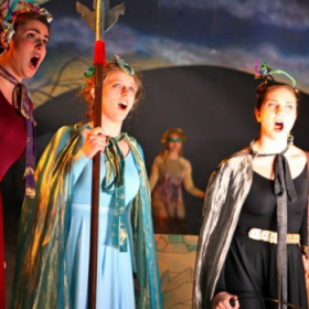 """Performing as Second Lady in Hartt Opera Theater's production of """"The Magic Flute."""""""