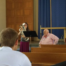 Masterclass with Roger Bobo I had the privilege to play in.