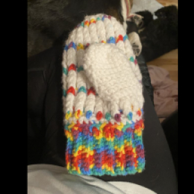 This is one of the mittens of a set that I have made!