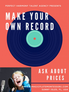 Great News! Available now at my studio! Record your own RECORD!!!