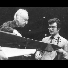 1971 - discussing the score with the legend Leopold Stokowski