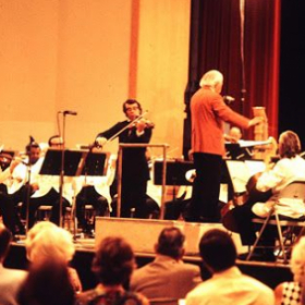Soloing with Arthur FIEDLER of the Boston Pops fame, with the Minnesota Orchestra 1978)