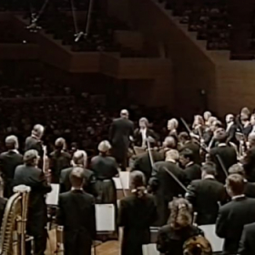 Leading as concertmaster the ORF Symphony Orchestra on tour of Japan 1997