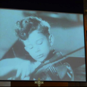 Screenshot from Polish Newsreel report from orchestral debut on March 21, 1948