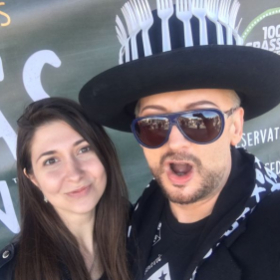 With Boy George, ad campaign