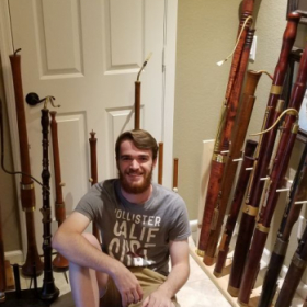 Meeting an inspiring personal collection of historical double reed instruments in Tempe, Arizona in early 2019.