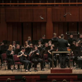 Performing as a featured soloist at the Kennedy Center's Millenium Stage.