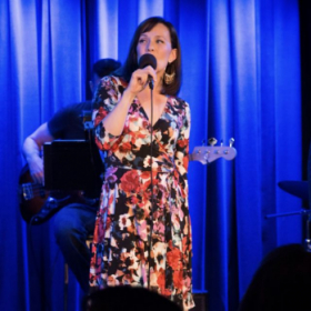 Onstage at the Laurie Beechman Theatre in NYC