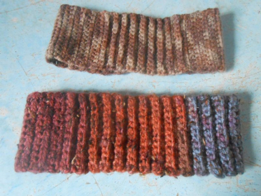 A couple of headbands for cool fall days.
