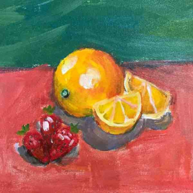 Orange and Strawberry by Student