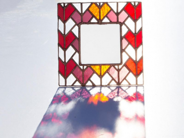 Stained glass mirror- Love Mirror