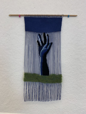 Student Tapestry weaving project.