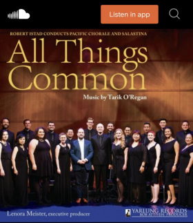 """I'm a soloist on Pacific Chorale's 2020 album """"All Things Common"""" - go to SoundCloud to listen to samples."""