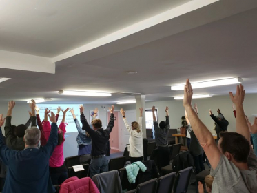 This was at my first Soul Fitness Ministries class!