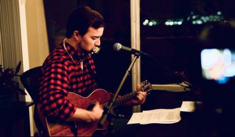 """My friend recorded me playing """"God's Divine Nature"""" on the guitar and harmonica at my old apartment!"""
