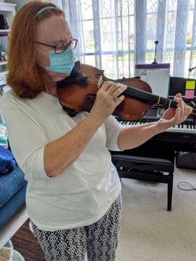 Rosemary had concerns about limited mobility in her left hand. We adapted and are helping her realize her dream of playing the violin!