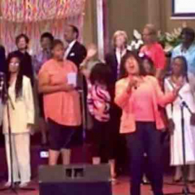 Singing tenor along with choir featuring Scherrie Payne of The Supremes singing lead