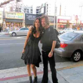 Raye and me outside Johnny Depp's viper Room Getting ready to hit the stage