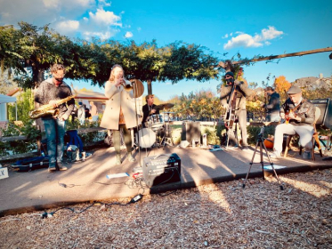 Jazz Sunday out at Furthermore Wines in Occidental, CA