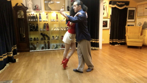 Walking and embrace - two tango essentials.