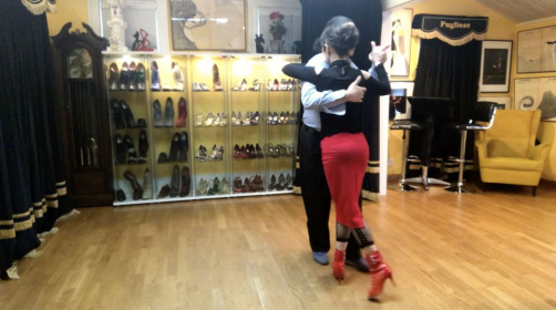 You don't need any specific dance shoes to start dancing.