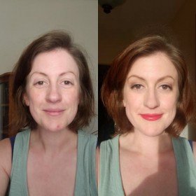 Jessica - Before & After her Online makeup lessons. Jessica's Review is on this site