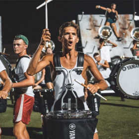 Shot at a rehearsal with Boston Crusader's Drumline
