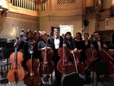 Yale Philharmonic performance at Woosley Hall.