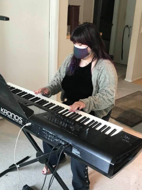"""Talented songwriter and singer learning to play 'The Entertainer"""""""