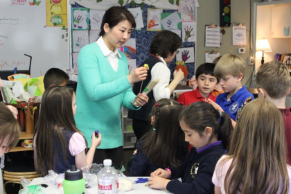 Teaching Chinese Dough Art at a local primary school