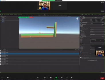 Building a Parkour Game using Unity game engine with my takelessons student online.