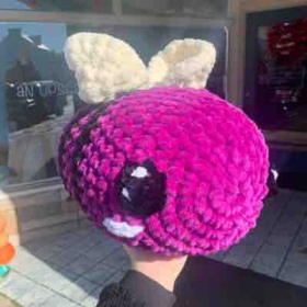 Giant Ravens themed bee!! Made from sweet snuggles yarn