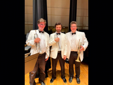 The trumpet section for the Endless Mountain Music Festival Orchestra!