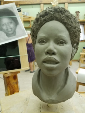 Clay sculpture from a photo 2021