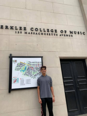 Andrew, one of my first students, is starting Berklee College of Music!