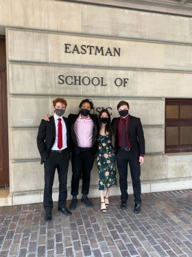 Formal photo at Eastman School of Music