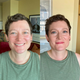Shirlee Before & After her in Person Makeup Lesson. Reviewed September 18,2021